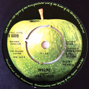 "John Lennon ‎- Imagine (7"") (G/VG-)"
